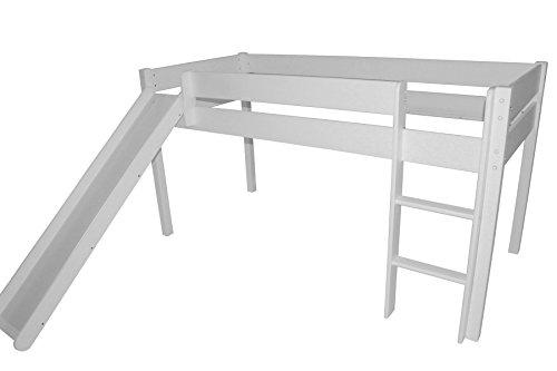 Kinderbett / Jugendbett mit Rutsche Hochbett Bett 90x200 cm