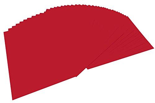 folia 6418 - Tonpapier ziegelrot, DIN A4, 130 g/qm, 100 Blatt - zum Basteln und kreativen Gestalten von Karten, Fensterbildern und für Scrapbooking