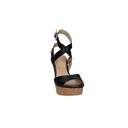 Guess Sandalo Donna Harana Platform Zeppa Cm 11 Pl. Cm 3 Black Nero