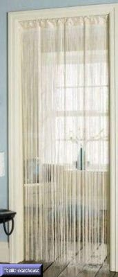 Tassel Fringe Cream Hanging String Partition Divider 90x200cm Wall Door Curtain by Beamfeature