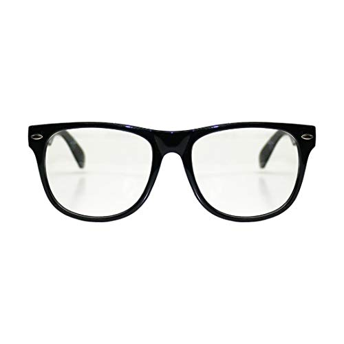 ILOVEFANCYDRESS Retro Vintage quadratischer Rahmen klare Gläser Mode Geek Nerd Fake EyegGlasses