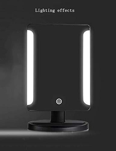 YWMZMJ Spiegel tragbare Mini-LED-Make-up-Desktop-Platz niedliche Prinzessin tragbare Eitelkeit mit Licht Make-up geeignet für Schlafzimmer Badezimmer,4 - 4 Badezimmer-eitelkeit