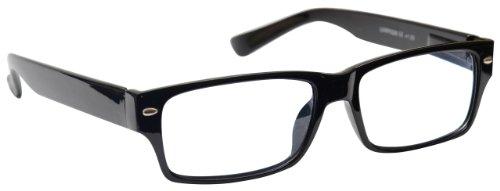 Reading Glasses +1.00 Strength Mens Womens Unisex Wayfarer Style Black UV Reader UVR006 Inc Case