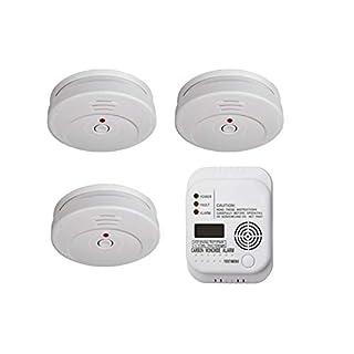 Brandschutz-Set3 (3 x TÜV Rauchmelder, 1 x Kohlenmonoxid-Melder) Notfall-Set Brandschutzpaket