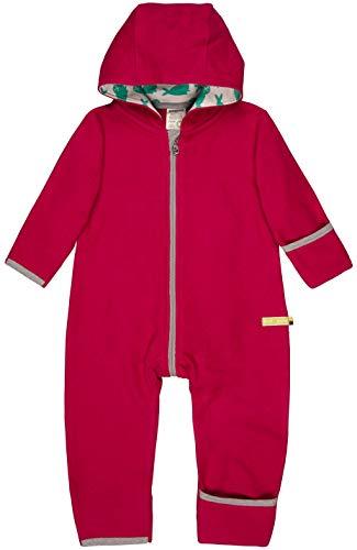 loud + proud Unisex Baby Overall Fleece Aus Bio Baumwolle, GOTS Zertifiziert Schneeanzug, Rosa (Berry Ber), 56 (Herstellergröße: 50/56) -