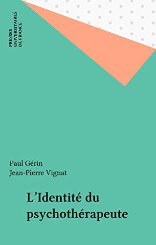 Livre gratuits L'Identité du psychothérapeute pdf ebook