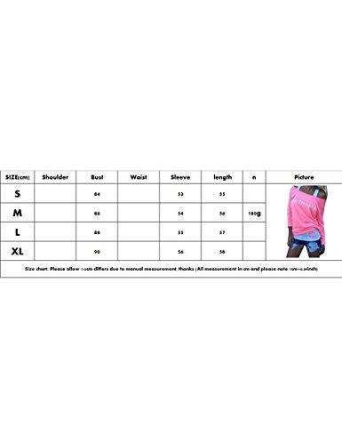 Shinekoo® Donna Camicia Rosa In Maglia Lunga Manica Lunga Rosa