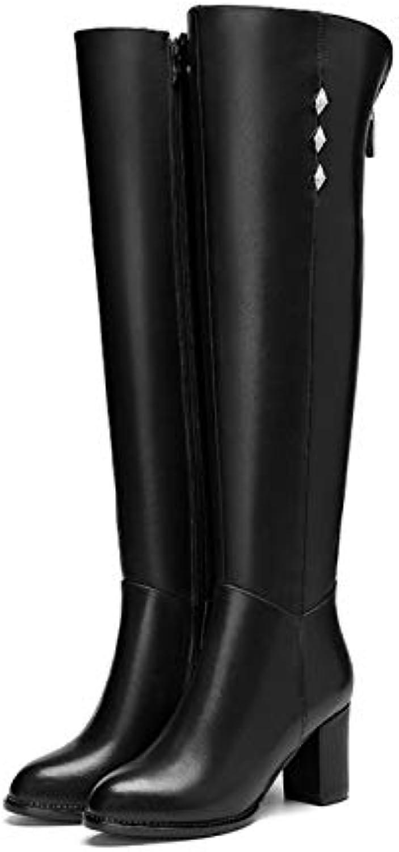 DANDANJIE Bottes Femmes Femmes Bottes sur Le Genou Strass Bottes élégantes Bloc Talon Bottes Hautes extérieuresB07JX6D2Z6Parent 047dfc