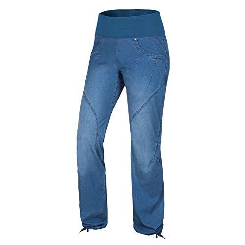 Ocun Noya Jeans W Boulderhose Middle Blue Blue Denim Bekleidung