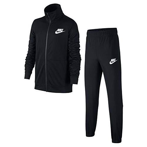 Nike B NSW Track Suit Poly Survêtement Garçon, Noir Black/White 010, FR : M (Taille Fabricant : M)