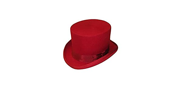 tfxwerws Neuheit Vlies Stoffe Satin gef/üttert Filz Top Hat Red
