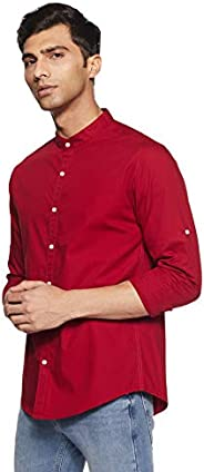 Diverse Men's Solid Slim Fit Casual S