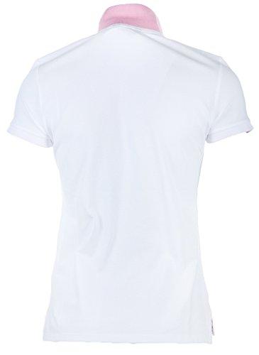 GANT Damen Poloshirt Contrast Collar Pique Weiß