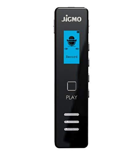 Diktiergerät Digital Für Klare Audioaufnahme im Meetings & Vorträge, Passwort-Schutz, Taschengröße, Exzellente Qualität Sound-Mikrofon, Kopfhörer, USB-Kabel, von JiGMO