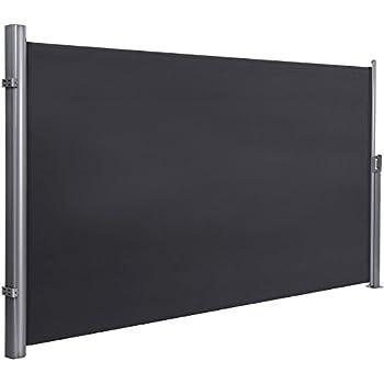 seitenmarkise seitenrollo h he bis 3m l nge windschutz struktur grau. Black Bedroom Furniture Sets. Home Design Ideas