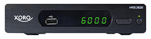 Xoro HRS 2620 Digitaler Satellitenreceiver (HDMI, SCART, USB 2.0, LAN, Unicable) schwarz