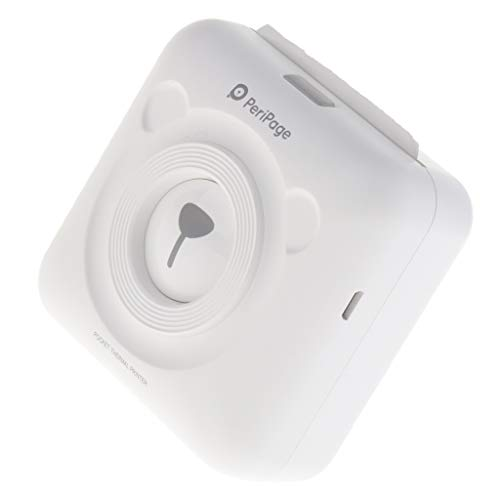 F Fityle Mini HD Wireless Mobile Instant Fotopapier Thermodrucker Bluetooth Kompatibel mit iOS Android Geräte (Weiß) - Portable Foto-drucker Bluetooth