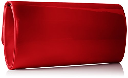 Berydale Damen Clutch in Lack-Optik Rot (Rot)