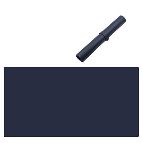 JiaQi Premium Doppelseitige rutschfest Mousepad,verlängert Leder Mauspad Mat,Office Schreiben Tischmatte Für Laptop Computer Pc-Marineblau 70x35cm(28x14inch) (Tastatur-handgelenkauflage 14 Zoll)