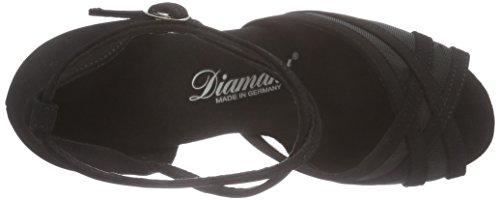 Diamant Diamant Damen Latein Tanzschuhe 035-077-040, Chaussures de Danse de salon femme Noir - Noir
