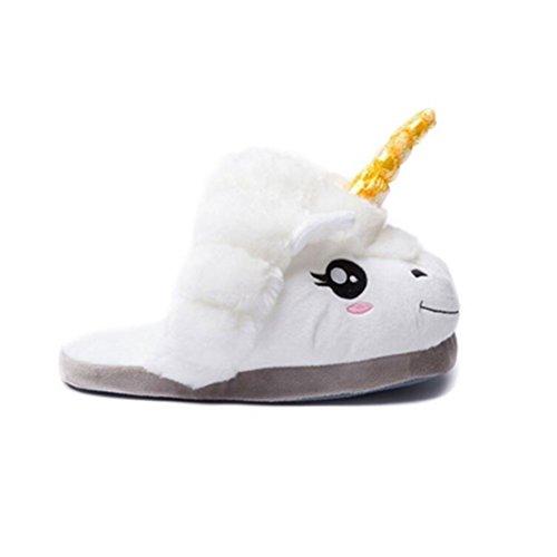 Vogstyle Pantofole Peluche Pistone Caldo/Kigurumi Pigiami e Camicie da Notte Stile-1 Bianco