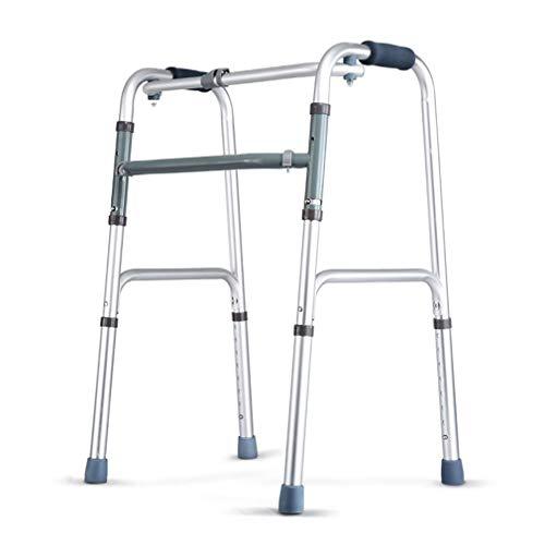 SXXDERTY-Walker Marco Plegable Zimmer para Caminar, Andador geriátrico para Ancianos - Altura Ajustable: 75-93 cm - Reposabrazos para Caminar Muleta de aleación de Aluminio