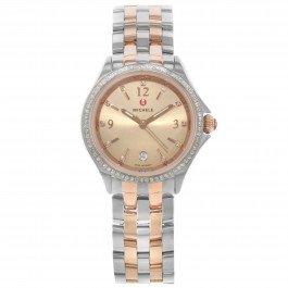 Michele Belmore MWW29A0000100.34ct TW diamanti bicolore acciaio orologio al quarzo