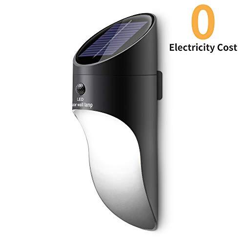 Neporal Lámparas solares LED 2 Brillo Montado pared