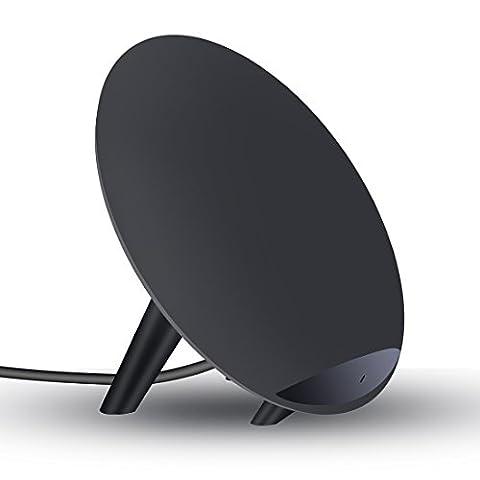 Rapide chargeur sans fil, Itorrent 2-coil rapide support de chargement sans fil Qi K11pour Samsung S8, S8+, S7, S7Edge, S6Edge Plus, Note5, Regular chargeur sans fil pour d'autres téléphones chargement sans fil (pas d'adaptateur secteur)