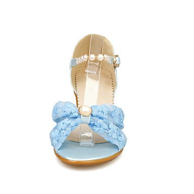 NVXZD Da donna-Ballerine-Ufficio e lavoro Formale Serata e festa-Club Shoes-Zeppa-Tessuto-Bianco Nero Rosa Azzurro chiaro Bianco