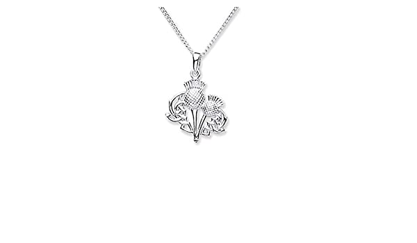 Made in Scotland Silver Plated Scotland in Europe Necklace,18 Inch
