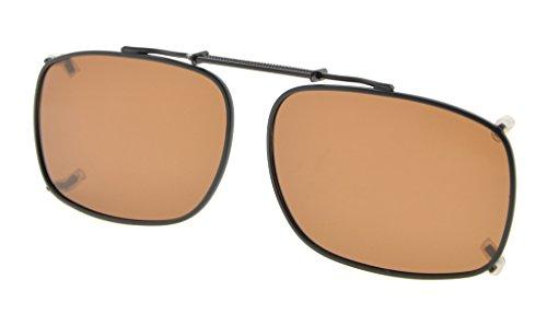 Eyekepper Metallrahmen Felge polarisierte Linse Clip auf Sonnenbrille 52x36MM Braunes Linse