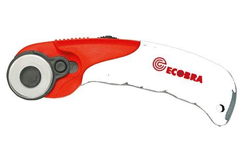 Ecobra 770640 Roll-Cutter, für Rechts- und Linkshänder, 28 mm, rot/schwarz