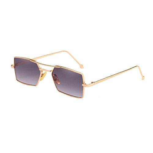 Trada Sonnenbrillen, Frauen-Männer Vier Quadratische Metallrahmen-Shades-Sonnenbrille integrierte UVgläser Retro Vintage Style SIL Unisex Brille Verschiedene Farben/Wählbar (B)