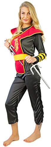 enkostüm Ninja Meister 10 - 12 Jahre / Größe S (Ninja Sai-Set) ()
