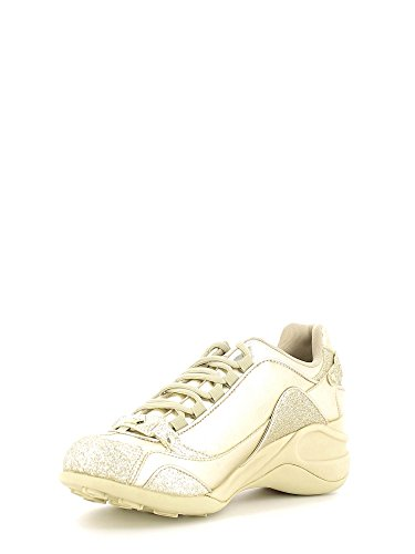 Fornarina PIFSE6432WMA9000 Sneakers Femme Cuir Synthetique Argent SPECIAL GOLD METALLIC