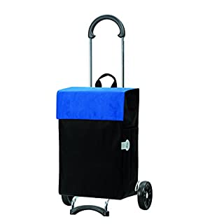 Andersen Shopping trolley Scala with bag Hera blue, Volume 44L, steel frame