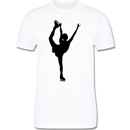 Wintersport - Eiskunstläuferin Einzellaufen - Herren Premium T-Shirt Weiß