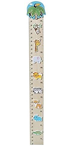 Bieco 74092171 - Messlatte Zoo für Kinder von 66 cm bis 1,50 m