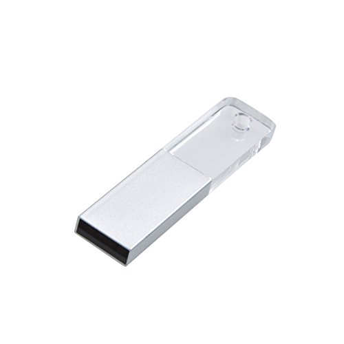 Uflatek Speicherstick 64 GB Acryl USB Stick Transparent Klein Memory Stick Neuheit Pendrive mit Schlüsselring - mit LED-Beleuchtung - Gutes Geschenk