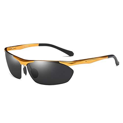 Jinxiaobei Herren Sonnenbrillen Sportbrillen.Driving Sunglasses.Polarized Sunglasses.Superlight Frame Design.for Herren und Damen.UV400 Protection.Classic Sonnenbrille. (Color : Gold)