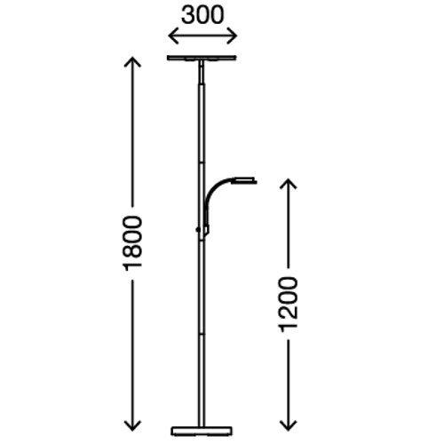Test Briloner Leuchten Led Stehlampe Mit Flexibler Leselampe