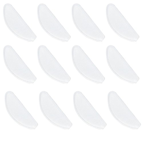 SUPVOX 10 Stücke Nasenpads Gläser Weiche Silikon Brillen Nasenpads Adhesive rutschfeste Nasenpads für Gläser (Weiß)
