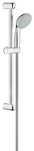 GROHE Tempesta 100 | Brausen- und Duschsysteme - Brausestangenset |600 mm, 2 Strahlarten, feste Bohrlöcher zur Befestigung, chrom | 27598000