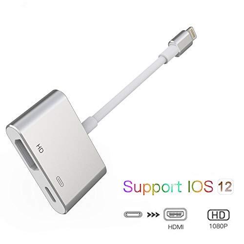 SwiftLand HDMI Adapter für Phone, 1080P Digital AV Adapter HDTV Sync Screen HDMI Anschluss für Phone XS / XR / X / 8/7/6/5 Serie / Pad Air / Mini / Pro (Kompatibel mit IOS 12 Vorher & Nachher) (Grau)