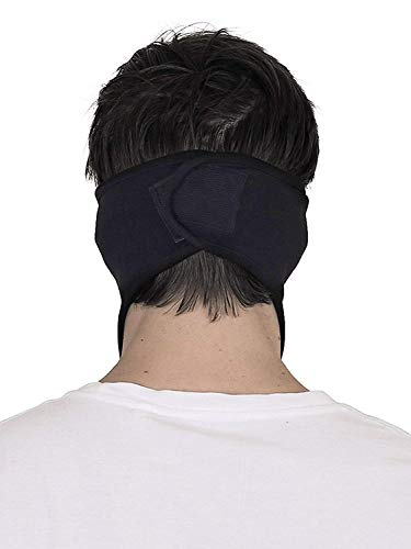 Acceptive's Fashions Bike Riding and Cycling Anti Pollution Dust Sun Protection Half Ninja Face Cover Mask (Black)