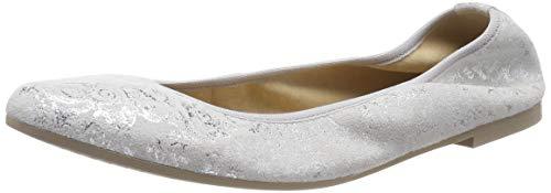 Tamaris Damen 1-1-22128-22 961 Geschlossene Ballerinas, Silber (Silver Flower 961), 37 EU