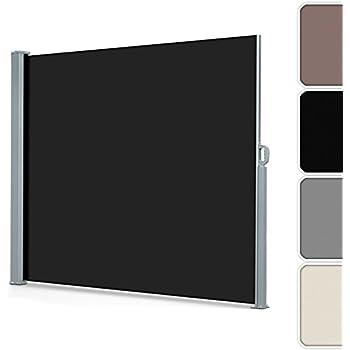casa pura seitenmarkise schwarz ausziehbar bis 300 cm l nge effektiver. Black Bedroom Furniture Sets. Home Design Ideas