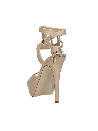 Guess FLKAS1 LEA07 Sandalo tacco Donna Beige