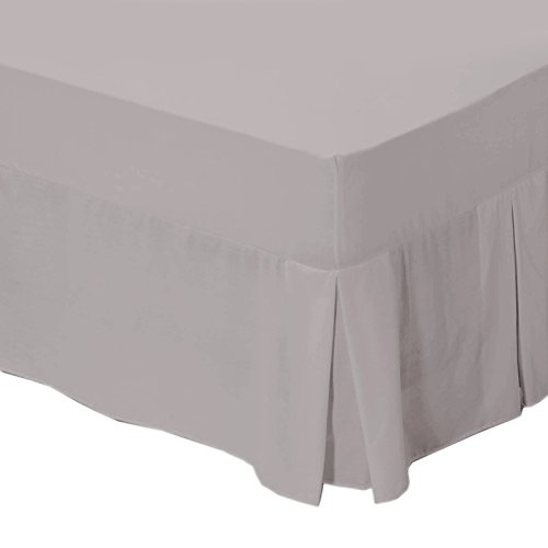 Just Contempo Fitted Valance Sheet – Double, Grey